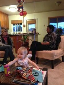 Kelli, Rahwa, and baby Naomi