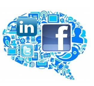 Facebook, linkedin, twitter