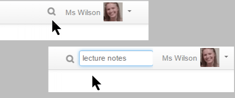 Moodle Global Search box