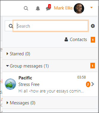 Moodle 3.6 new messaging drawer