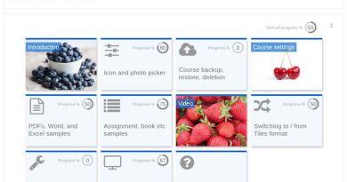 Tiles course format Moodle plugin