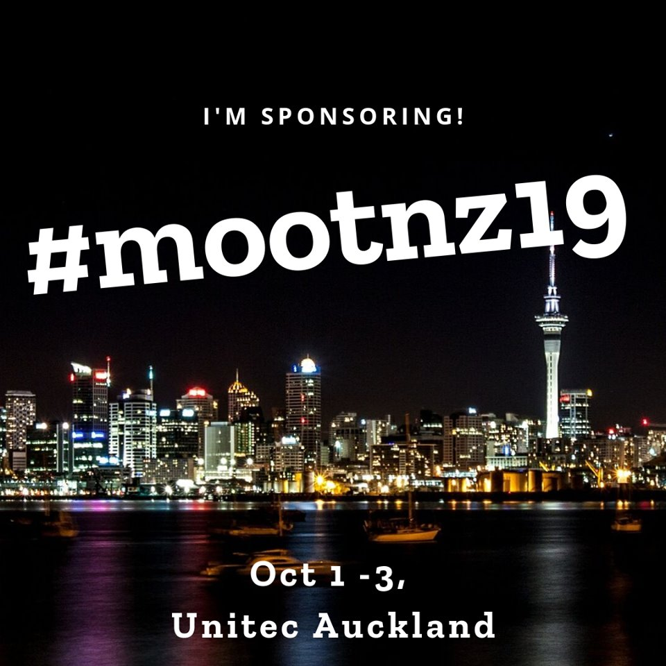 I'm sponsoring! #mootnz19