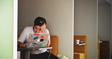 frustrated student at computer
