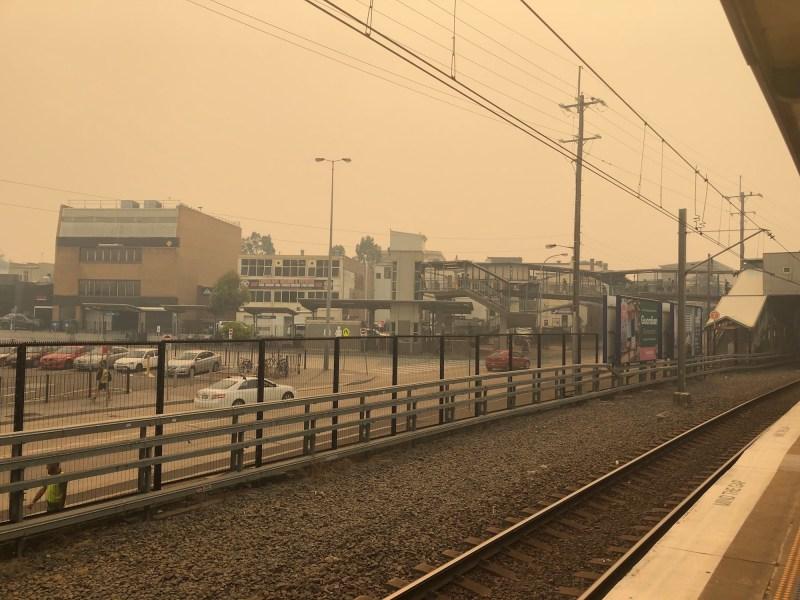 Smoke at Granville Station, Dec 4