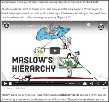 an H5P interactive video in an OER