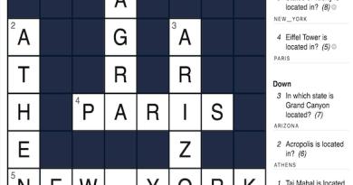 H5P Crossword