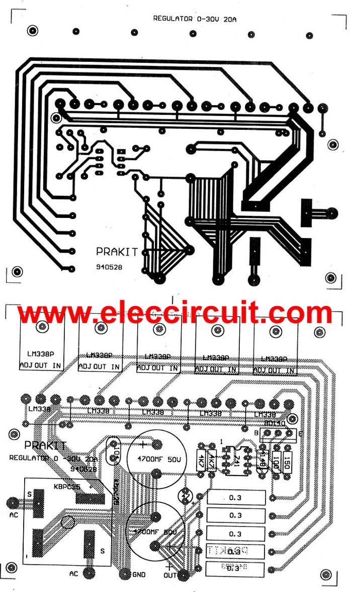 High Voltage Regulator Lm317 Led Driver Circuit