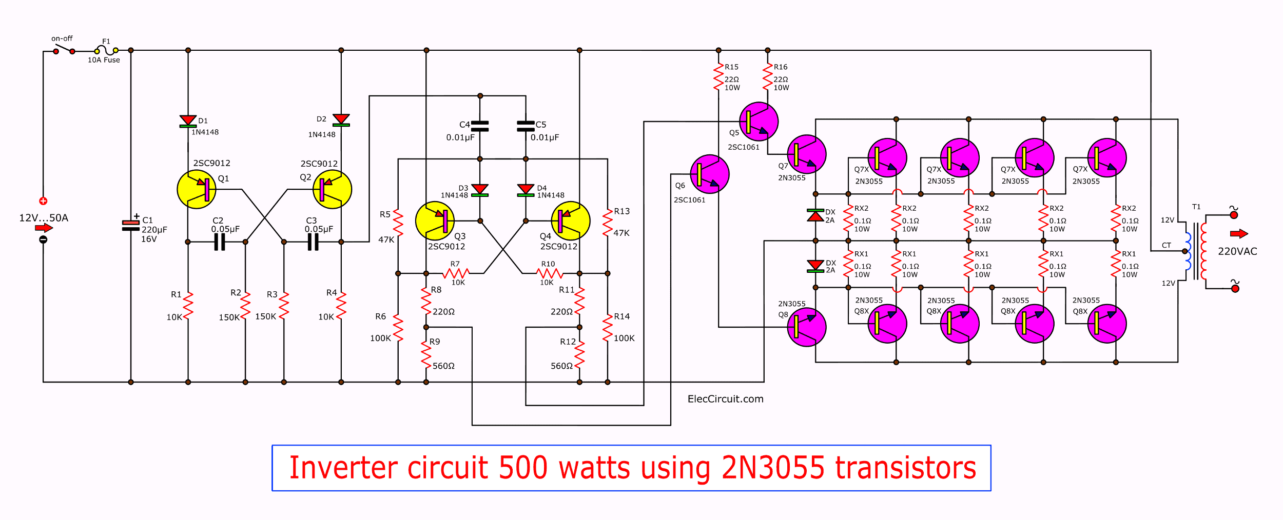 Variable Switching Power Supply Schematic
