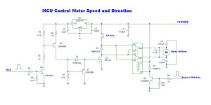 MCU system Controller 12V DC Motor Speed and Direction