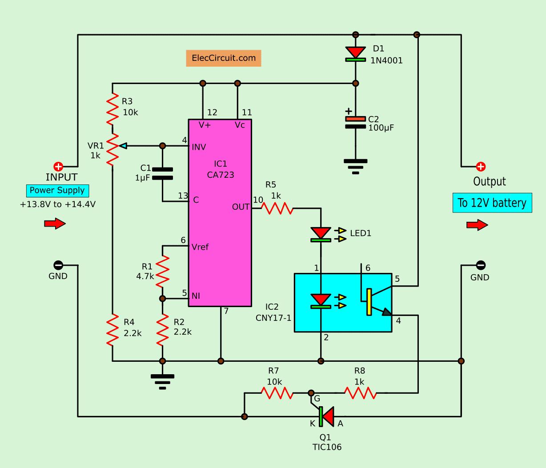 Regulator 12v 10a By Ic 723 2n3055