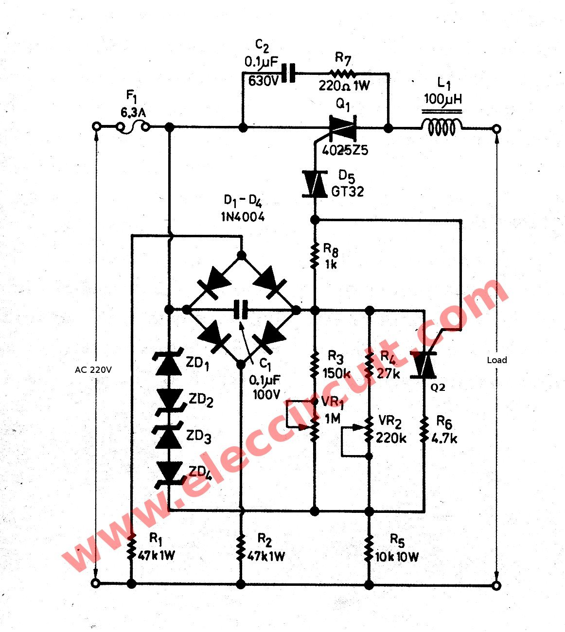 Watts Dimmer For Inductor Load Electronic Projects