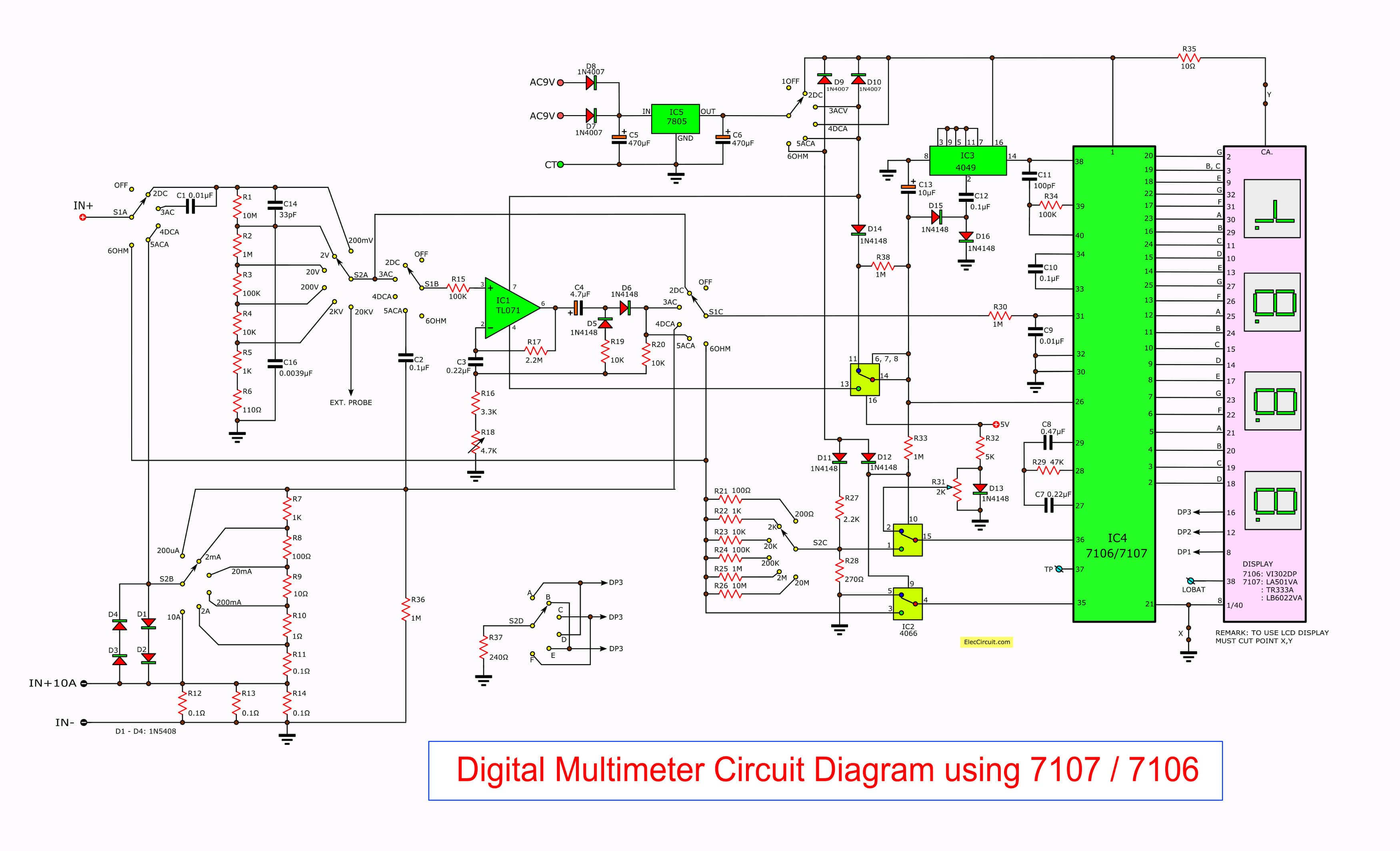 alternator wiring diagram with voltmeter