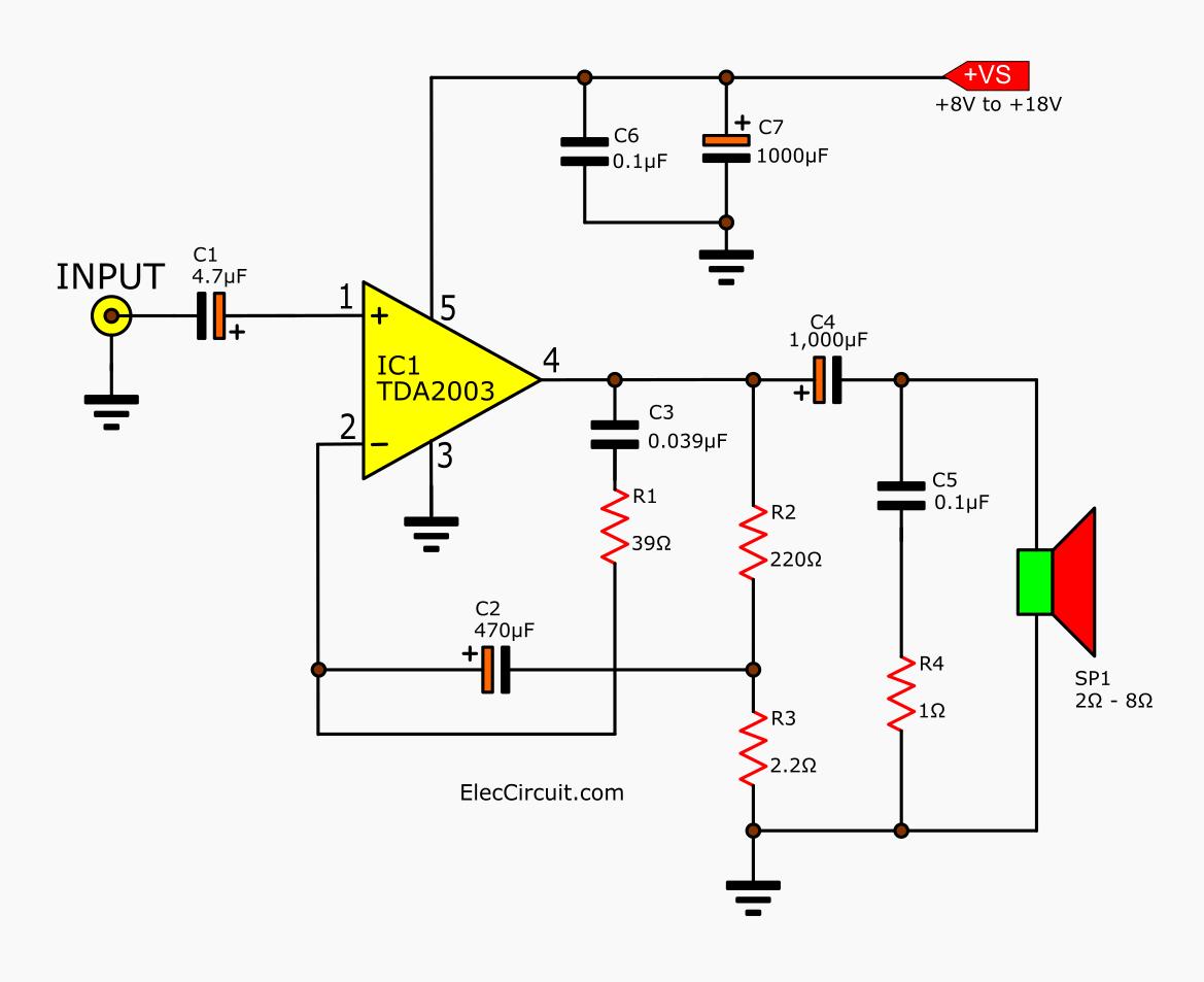 Tda 10w Audio Amplifier Circuit
