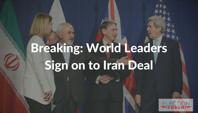 Breaking: World Leaders Sign on to Iran Deal