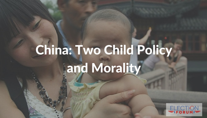 China: Two Child Policy and Morality