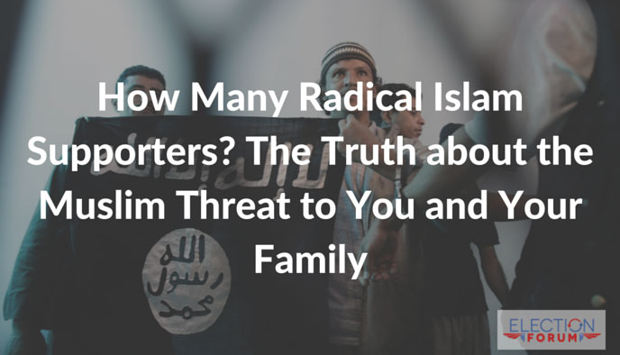 How Many Radical Islam Supporters? The Truth about the Muslim Threat to You and Your Family