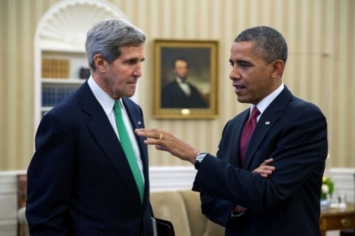 President Obama and Secretary of State John Kerry (Credit: Whitehouse.gov)