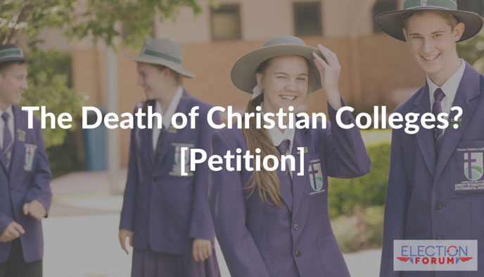 The Death of Christian Colleges? [Petition]