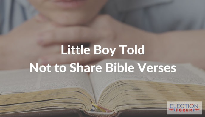 Little Boy Told Not to Share Bible Verses