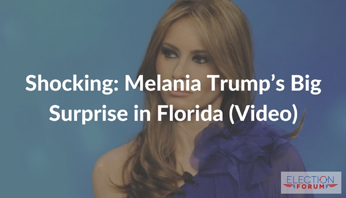 Shocking: Melania Trump's Big Surprise in Florida (Video)