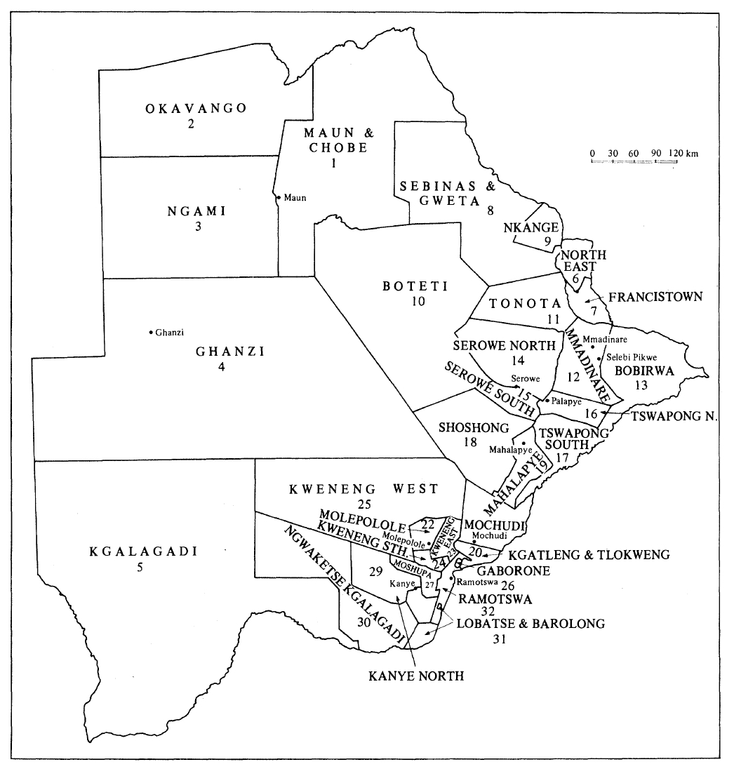 Botswana Election Map