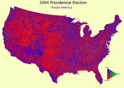 Map by Counties 2000 and 2004 Counties 2004  counties 2004