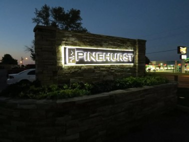 Illuminated Monument Sign