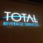 Electremedia provides new custom logo wall sign for Oklahoma beverage company.