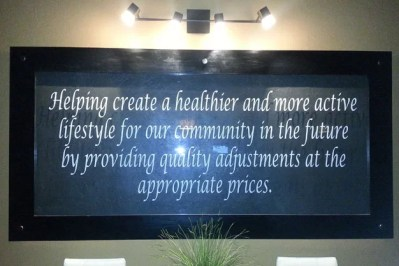 Interior Mission Statement Sign