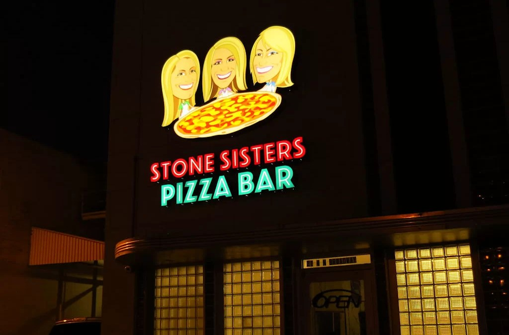 Custom Signs and Graphics for Stone Sisters Pizza Bar
