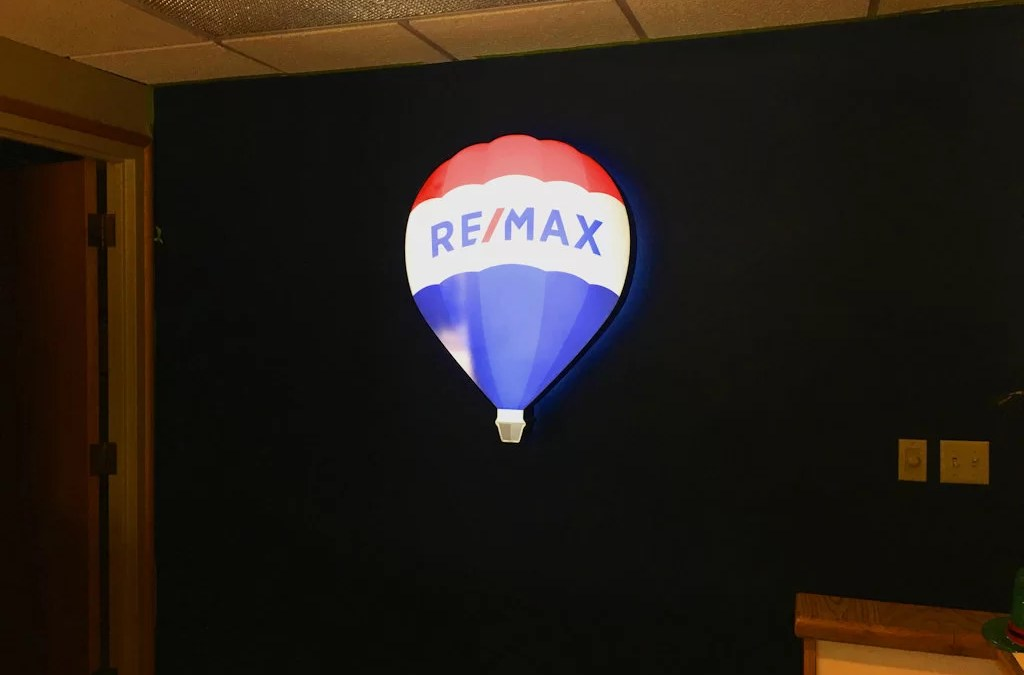 Illuminated Dimensional Sign for Remax First Reception Area