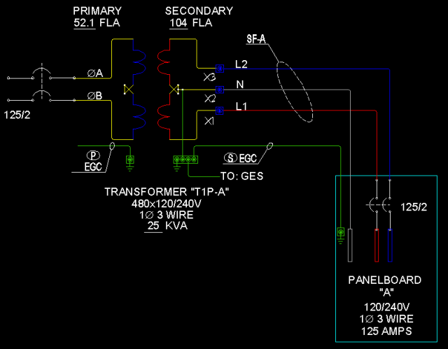 transformer wiring diagram 480v primary 120 240v secondary rh pandarestaurant us Utility Transformer Wiring Diagrams 480 to 120 Transformer Wiring Diagram