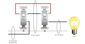 3Way Switch Wiring Diagram : Electrical Online