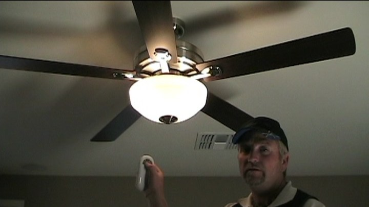 How To Install a Ceiling Fan With Remote Control   Electrical Online COMPLETED INSTALLATION OF CEILING FAN WITH REMOTE