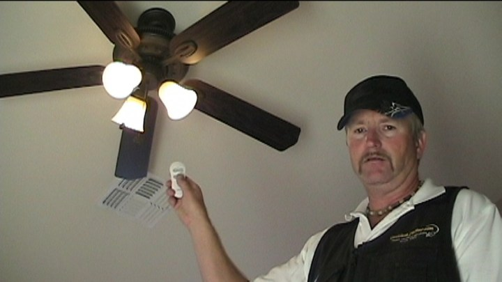 Converting an Existing Ceiling Fan to a Remote Control Testing the ceiling fan remote control