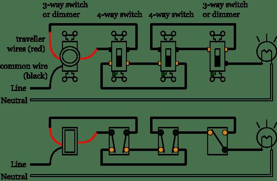 how to wire a 4 way switch readingrat net 5 Way Switch Wiring Diagram Light 5 way light switch wiring diagram wiring diagram, house wiring 5 way switch wiring diagram light