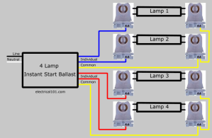 Parallel Ballast Lampholder Wiring  Electrical 101