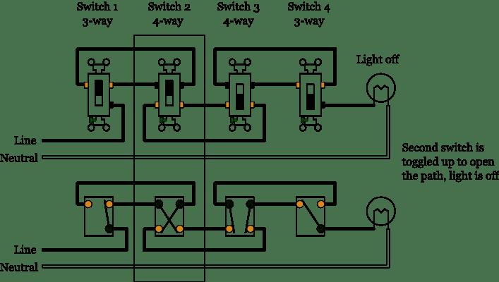 Four Pole Double Throw Switch