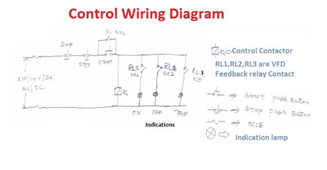 vfd start stop wiring diagram  electrical4u