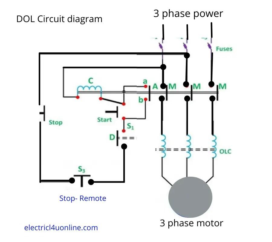 Is Dol Starter Direct On Line, Dol Starter Wiring Diagram