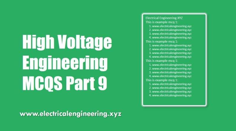high-voltage-engineering-mcqs-part-9