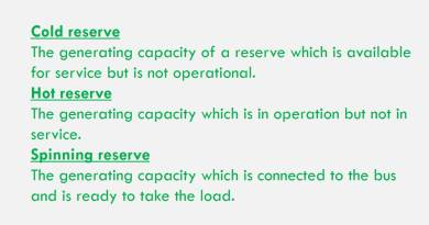 difference-between-cold-hot-and-spinning-reserve-capacity-of-power-plant