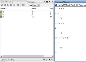 how to use variables in matlab