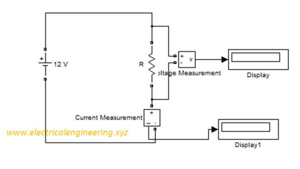 voltage and current measurement in simulink