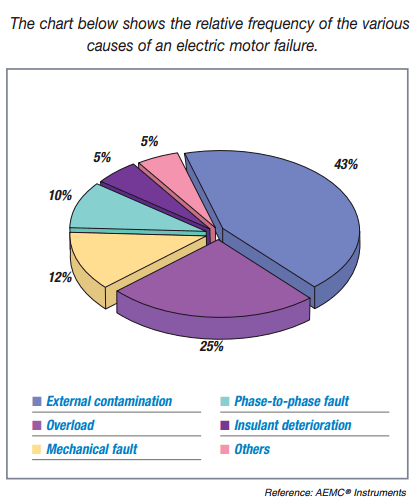 Causes of electric motor failure