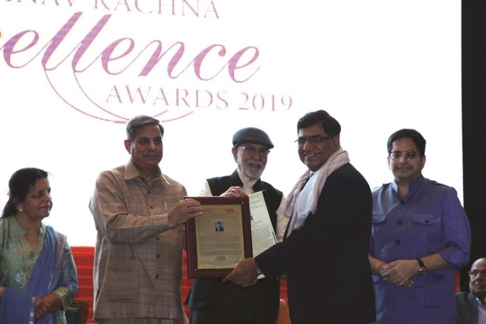 online news, blogs, news articles, Case Studies, Industry Articles, Article Publications, Journal | energy & power industry | Sobti honoured with Manav Rachna Excellence Award 2019 - Electrical India Magazine on Power & Electrical products, Renewable Energy, Transformers, Switchgear & Cables