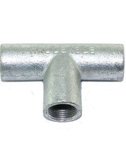 Solid Tee for 20mm Conduit Galvanised