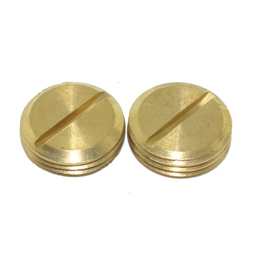 2 x Brass Slotted Threaded Plugs for use with 20mm Conduit Accessories
