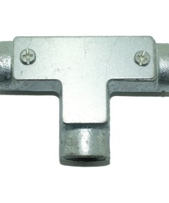 Inspection Tee for Galvanised Conduit Front