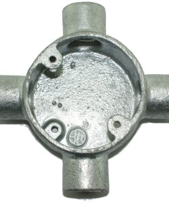 Intersection Metal Conduit Box 20mm Galvanised Front